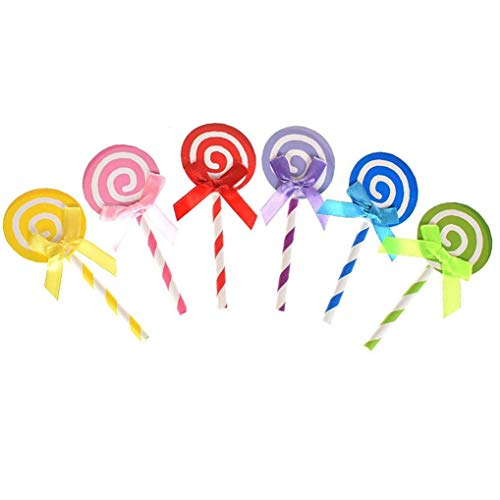 Ishua 18 Stück Lollipop Cupcake Toppers Partydekorationen Lollipop Picks Dekorieren Kuchen Muffin Topper, Baby Dhower Favors Supplies Kit, bunt (Kuchen Harry Potter Dekorieren Kit)