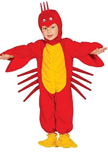 Fancy Me Baby Mädchen Jungen Rot Hummer Meerestiere Ozean Tier Kostüm Kleid Outfit - Rot, Rot, 6-12 Months (Ozean Tier Kostüm)