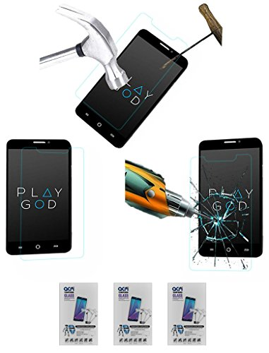 Acm Pack Of 3 Tempered Glass Screenguard For Micromax Yu Yureka A05510 Mobile Screen Guard Scratch Protector  available at amazon for Rs.449