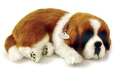 Peluche de perro San Bernardo interactivo (25 cm, efecto de respiración) - Perfect Petzzz 65419