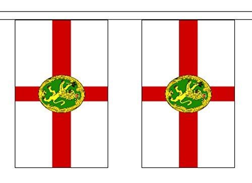 Alderney ANGLO-NORMAND îles polyester BRUANT de Drapeau 9M (30') bannière avec 30 DRAPEAUX