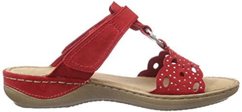Marco Tozzi  27401, Sandales pour femme Rouge - Rot (Chili / 533)
