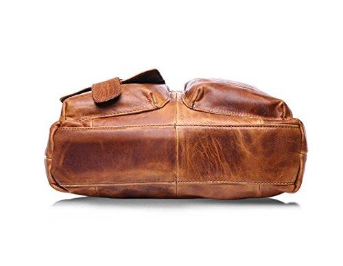 DJB/Fashion Casual Herren Leder Bag poliert Leder Herren tragbar shoulder-slung Tide Tasche 2