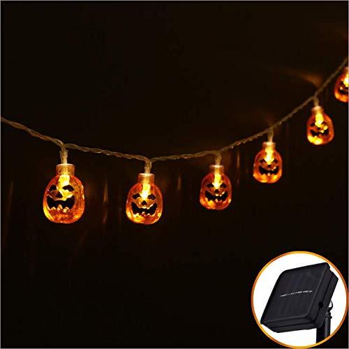 Outdoor Solar Lichterkette 10LED Kürbis Halloween Horror Dekoratives Licht Gartenfest Wasserdichtes Dekoratives Licht