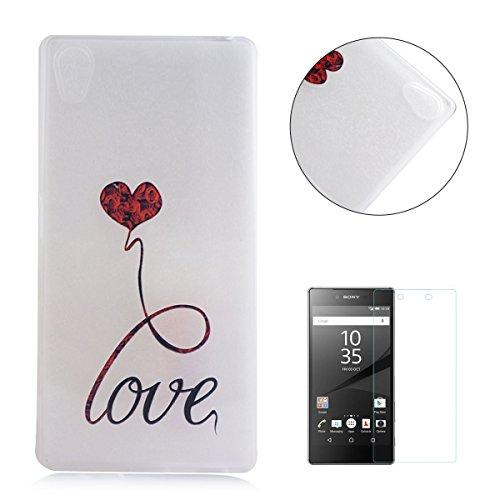 sony-xperia-z5-caso-con-gratis-protector-de-pantalla-casehome-ultra-delgado-choque-resistente-claro-