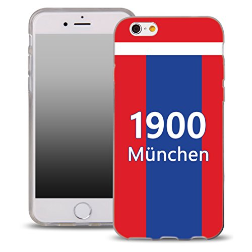 OOH!COLOR® Design Case per IPHONE 4 and 4S Silicone Custodia con Disegni Munich Football Sport Germania WCI150 Elastico Backcase Transparente Etui di Lusso Protezione Slim