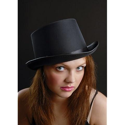 Vampiro gotico nero raso Top (Cappelli Vittoriani Per Le Donne)