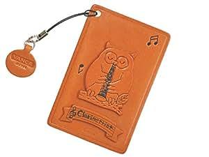 Chouette Animal clarinette en cuir pour carte d'identité/Pass/Porte-Cartes **VANCA main au Japon