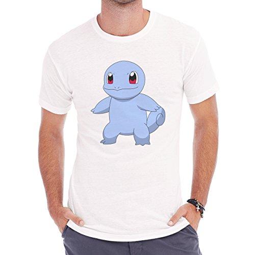 Pokemon Squirtle Water Turtle Naked Herren T-Shirt Weiß