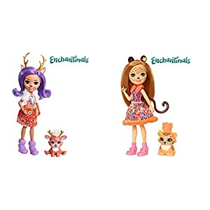 Enchantimals Muñeca con Mascota Danessa Deer (Mattel FNH23) + Muñeca con Mascota Cheris Cheetah (Mattel FJJ20)