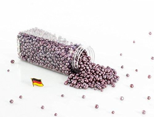 Set 3 x Deko Perlen Granulat / Blähtonkugeln PERLA, glänzend violett, 2-8mm, 605ml Dose, Made in Germany - Dekogranulat / Deko Perlen Farbgranulat / Pflanzton - monsterkatz