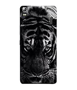 PrintVisa Designer Back Case Cover for Lenovo K3 Note :: Lenovo A7000 Turbo (The Tiger In Black And White Design)