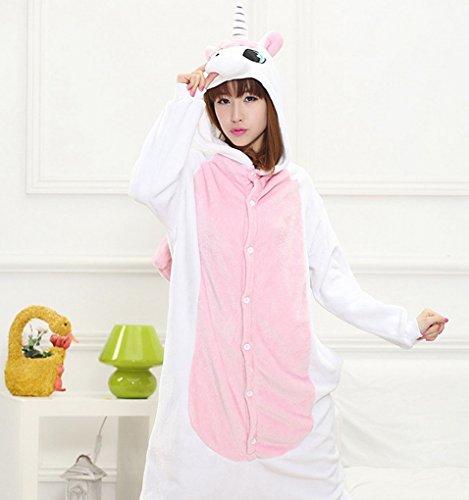 Imagen de happy cherry  disfraz pijama de animal unicornio para mujer hombre ropa de dormir una pieza adulto de franela  unicornio  talla xl alternativa