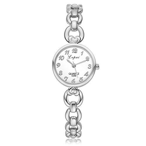 Mode Damen Unisex Edelstahl Strass Quarz Armbanduhr YunYoud elegant mode armbanduhr exklusive luxus titanuhren marken armbanduhren lederarmband flache uhren günstige schmuck