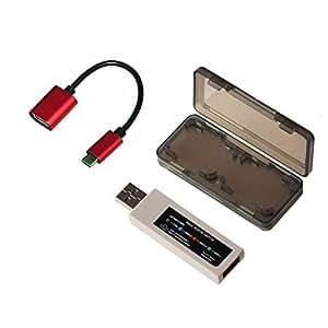 Mcbazel MAGIC-NS PS4 PS3 Xbox 360 Controller Un adattatore per Nintendo Switch + cavo di OTG + Game Card Case del corredo dell'insieme