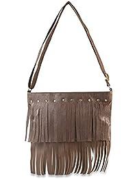 Chalissa Women's Sling Bag ( Brown, Fringe Sling )