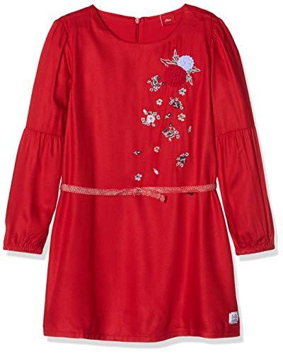 (s.Oliver Mädchen Kleid 53.808.82.2840, Rot (Dark Red 3188), 116)