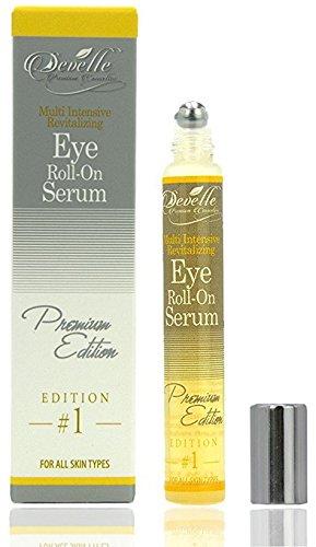 Augenlifting Develle Eye Roll On Augenserum 10 ml. gegen Tränensäcke und Augenringe YELLOW Premium Edition I Anti Falten Augenserum -