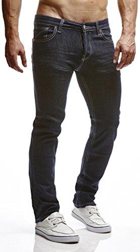LEIF NELSON Herren Hose Jeans Jeanshose Freizeithose Denim Regular Fit LN310BL-RF Blau