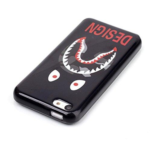 Voguecase® für Apple iPhone 5C, Schutzhülle / Case / Cover / Hülle / Ultra Slim Fit TPU Gel Skin (Kleine Gänseblümchen 05) + Gratis Universal Eingabestift Crocodile Zähne