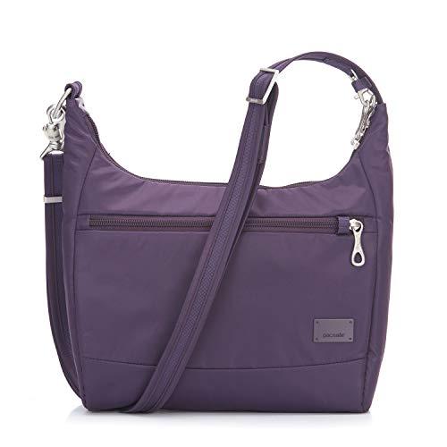 Pacsafe Citysafe CS100 Anti-Diebstahl Nylon Umhängetasche für Damen, Schultertasche mit Diebstahlschutz, Sicherheits-Features - 5L Uni, M...