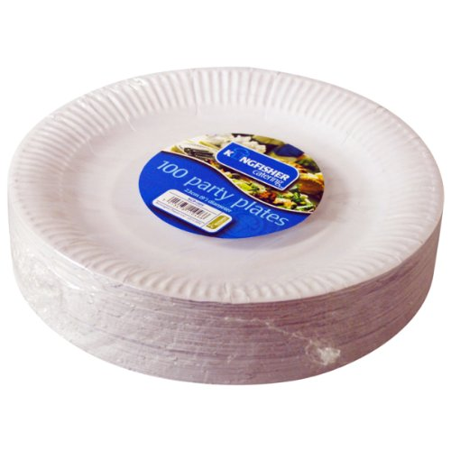 kingfisher-kcp1009-white-disposable-paper-plates-9-pack-of-100