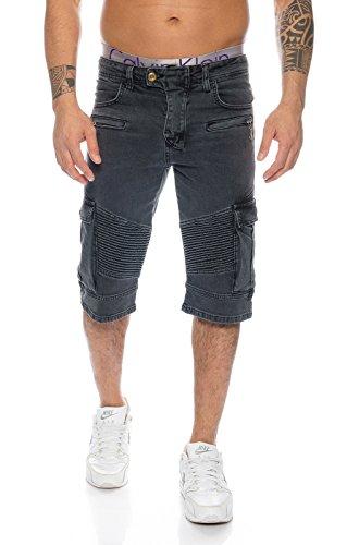 Rock Creek Herren Jeans Bermuda Hose Shorts LL-388 W40 (Rock Cargo-pocket)