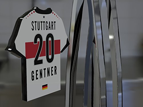 Deutschland Fussball–Bundesliga Shirt Kühlschrank Magnet–personalisierbar–Marke neue Acryl Shirt Design., plastik, VfB Stuttgart Football shirt fridge - Marke Kühlschrank