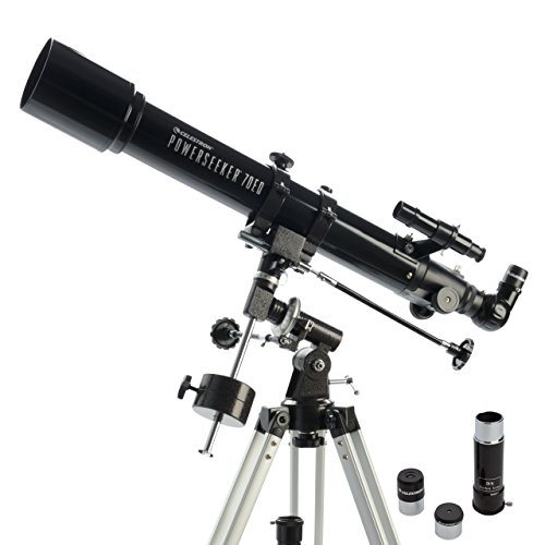 Celestron PowerSeeker 70EQ 35x - Telescopio (Aluminio)