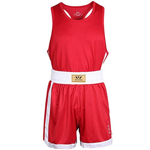 XJST Conjunto de Uniforme de Boxeo de 2 Piezas Shorts de Boxeo + Top de Peso Ligero Tejido Transpirable...