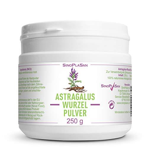 Asthma Tabletten (Astragalus-Wurzel-Pulver (Astragalus membranaceus) | 250g | 100% naturrein ohne Zusätze | höchste Qualität | VEGAN | Meshfaktor 80 | Tragant)