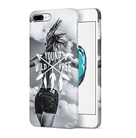 Young Wild And Free Sexy Blonde Girl Indie Free Spirit Wasted Youth Apple iPhone 7 PLUS SnapOn Hard Plastic Phone Protective Case