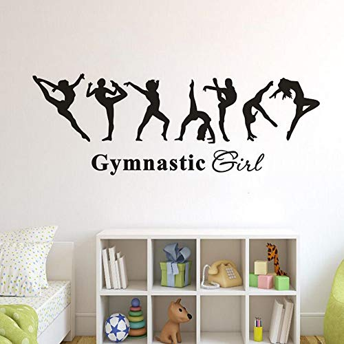 Home Decor Removable Vinyl Decal Gymnastics Charming Girl Wall Sticker Kids Room Decor Ballet Dancer Wallpaper Gymnastics Poster 119x42cm