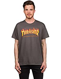 Thrasher Camiseta de S/S Thrasher Flame charcoal XXL