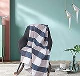 WOLTU BWP5016bl Tagesdecke 100% Baumwolle Bettüberwurf Steppdecke Retro Plaid Sofa Couch Überwurf Bettdecke doppelbett Stepp Decke