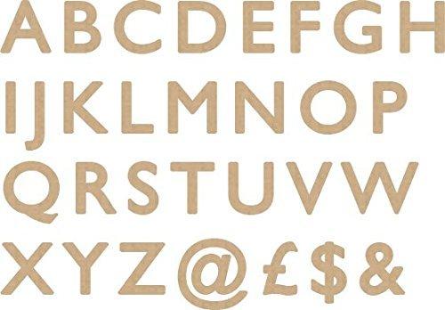 12 Zoll Holz-buchstaben (MDF Holz Buchstaben Nummer Dick Höhe Größen Crafts, Projekte Art 6mm dick 12