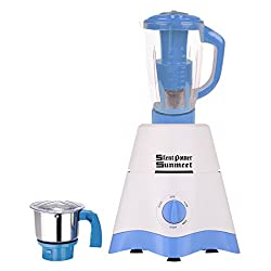 Silent Power Sunmeet White-Blue Color 750Watts White-Blue Color Mixer Juicer Grinder with 2 Jar (1 Juicer Jar with filter and 1 Chuntey Jar)