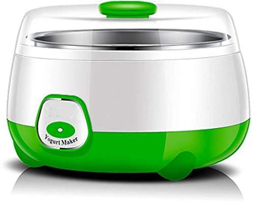 GOCART Classic Automatic Electronic Stainless Steel Tank Yogurt Maker, 1 L Friendly DIY Tool (Green)