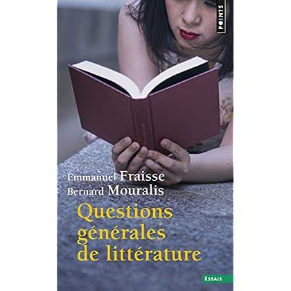 Questions générales de littérature