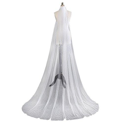 DreamyDesign Langer Schleier Brautschleier zum Brautkleid 1 Schicht langen Hochzeit Accessoires,...