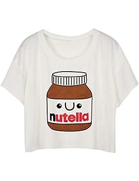MingTai Mujeres Camiseta Manga Corta Con Cuello Redondo Camisetas Cortas Personalizadas Camisas Blancas Mujer...