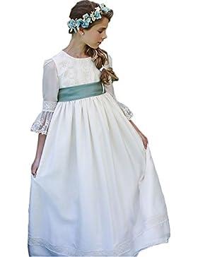 YoYodress Vestidos de niña de encaje de encaje para bodas Vestido de fiesta de princesa de niña
