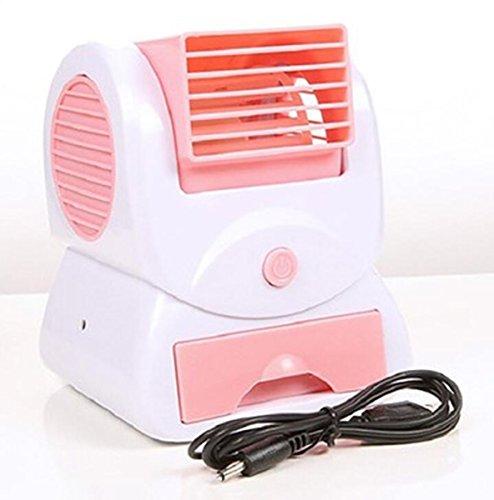 Leafless Fan New Scented Home Ultra ruhig Blattloser Turbo Fan Desktop Mini USB Fan Arbeitstisch, Schlafzimmer (Farbe : Rosa) -