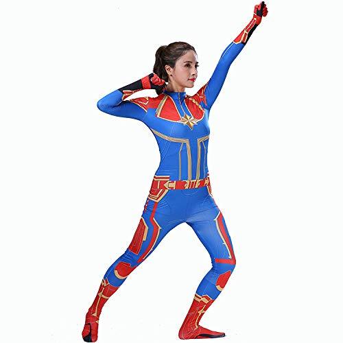 Hero-costume Superhelden Kostüm Damen,Frauen Weihnachten Halloween Show , Madchen Fancy Kleid Cosplay Overall Kostüm,BlueChild-XL