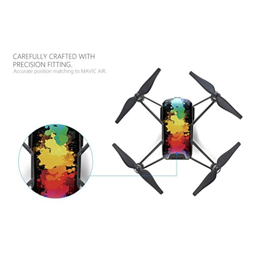 Homyl 4 Pieces Waterproof Stickers Drone Body Decal for DJI TELLO Drone  Accessories