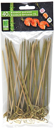 40 Bambus Spieße 15cm, Bambussticks Bambus Holz Natur, Partyspieße Dekospieße Bambusspieße Party Deko Spieß Spieße Spießer