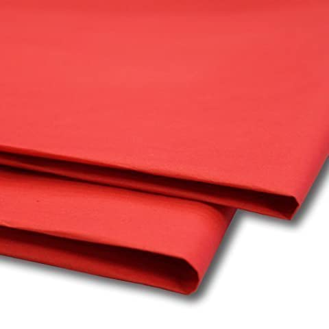 50 x Red Tissue Paper / Gift Wrap / Wrapping Paper Sheets (20
