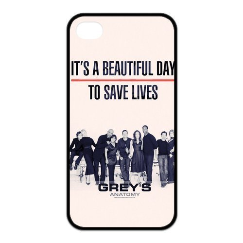 Personalized Customize Grey's Anatomy Silicon iPhone 5/5s Case Cover, Best Durable Grey's Anatomy iPhone 5/5s Case, Coques iphone