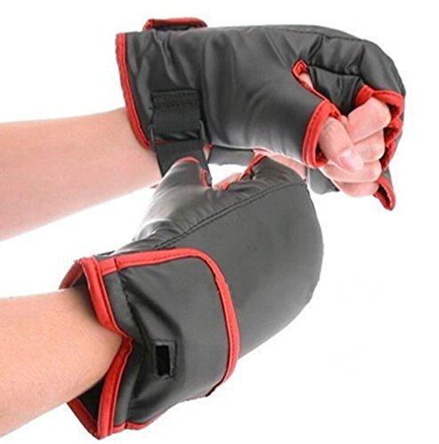 Saflyse Neue Boxhandschuhe Boxing Gloves FÜR WII NINTENDO(schwarz+rot)