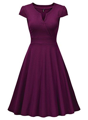 Miusol Cocktailkleid 50er Jahre Vintage Style Swing A-Linie Abendkleid - 5
